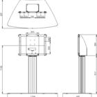 Legamaster e-Screen FEHA kolomsysteem voor PTX-8500UHD e-Screen  - 004