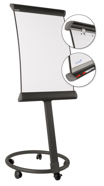 Legamaster TAURUS mobile flipchart anthracite - 001