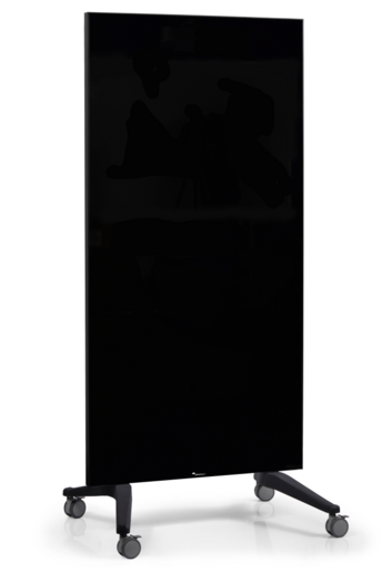 Legamaster tablero de vidrio móvil negro - 001