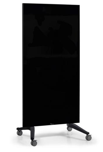 Legamaster mobiel glasbord 90x175cm zwart - 001