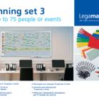 Legamaster planningsset 3 voor 75 personen, evenementen, projecten  - 001