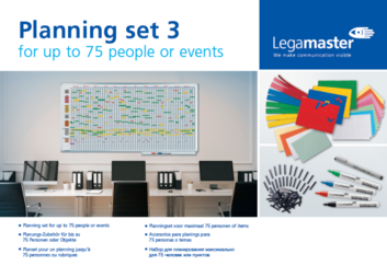 Legamaster planning set 3 for 75 people, events, projects - 001