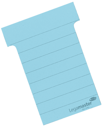 Legamaster planning module T-card 70mm blue 100pcs - 001