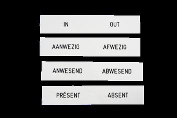 Legamaster placa de identificación grabada 2x12cm - 003