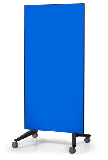 Legamaster tablero de vidrio móvil azul - 001