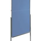Legamaster PREMIUM mobiel inklapbaar workshopbord blauw-grijs  - 002