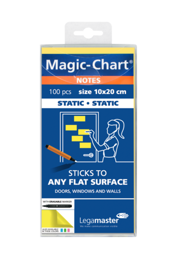 Legamaster Magic-Chart notes 10x20cm geel 100st - 001