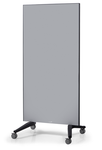 Legamaster mobile glassboard 90x175cm grey - 001