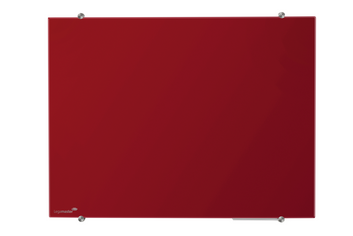 Legamaster glasbord 90x120cm rood - 001