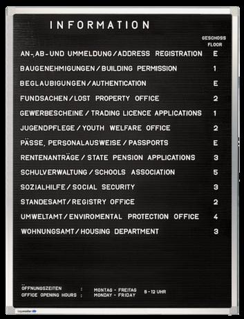 Legamaster PREMIUM information board 80x60cm - 001