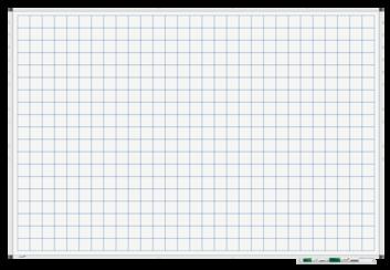 Legamaster PREMIUM bedrukt whiteboard liniatuur 100x150cm - 001