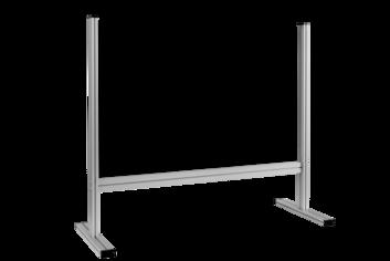 Legamaster ECONOMY desk divider 65x100cm transparent - 001