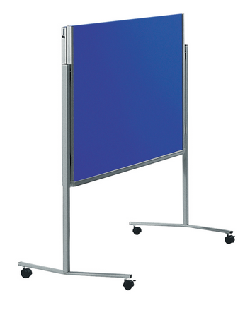 Legamaster PREMIUM tablero para workshop móvil plegable azul marino - 001