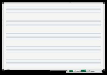 Legamaster PREMIUM tableau blanc imprimé portées musicales 60x90cm - 001