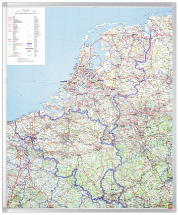 Legamaster PROFESSIONAL map Benelux 120x95cm - 001