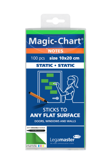 Legamaster Magic-Chart notes 10x20cm groen 100st - 001