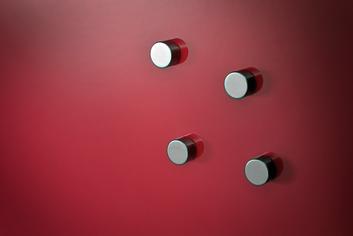 Legamaster glassboard magnet silver 6pcs - 003
