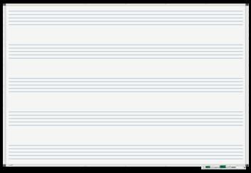 Legamaster PREMIUM tableau blanc imprimé portées musicales 120x180cm - 001