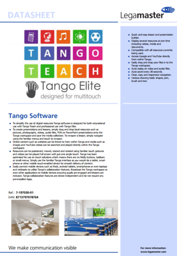 Product page Tango Software