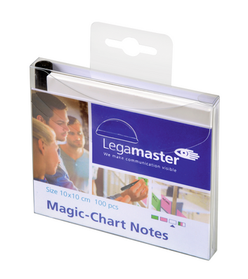 Legamaster Magic-Chart notes 10x10cm wit 100st - 001