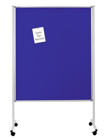 Legamaster multitablero móvil tablón de corcho xl azul-marino - 001