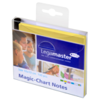 Legamaster Magic-Chart notes 10x10cm geel 100st  - 001