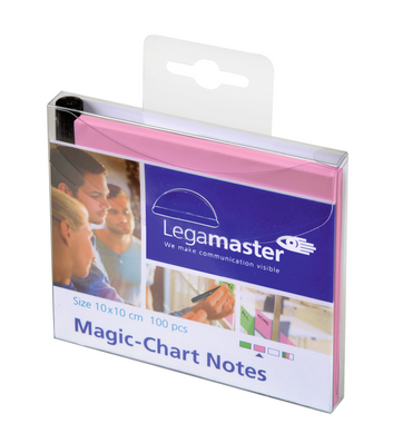 Legamaster Magic-Chart notes 10x10cm roze 100st - 001