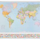 Legamaster PROFESSIONAL map World 98x142cm  - 001