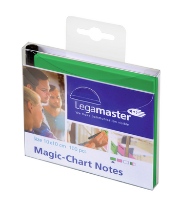 Legamaster Magic-Chart notes 10x10cm green 100pcs - 001