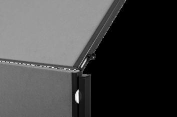 Legamaster PREMIUM PLUS workshop board foldable 150x120cm grey - 002