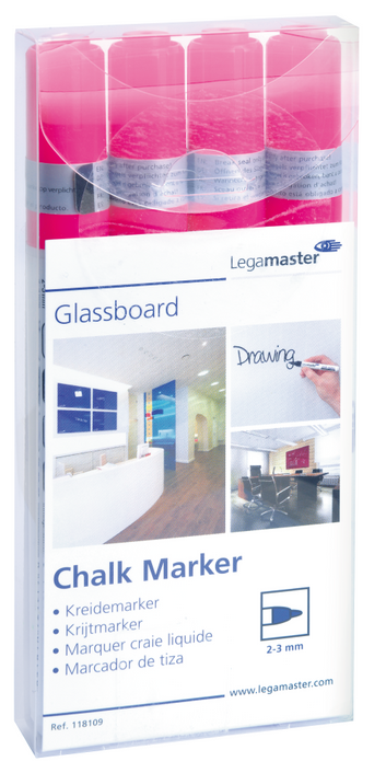 Legamaster marcador de tiza rosado - 001