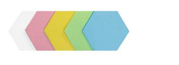Legamaster workshop card hexagon 165x190mm assorted 250pcs - 001