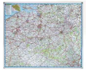 Legamaster PROFESSIONAL carte géographique Belgique 101x121cm - 001