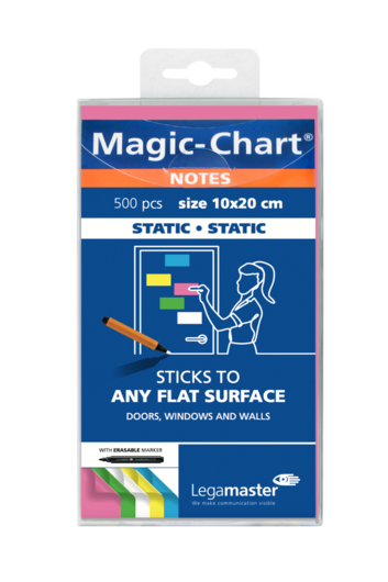Legamaster Magic-Chart notes 10x20cm assorti 500st - 001