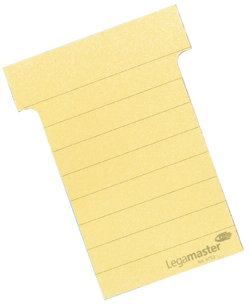 Legamaster planning module T-card 101mm yellow 100pcs - 001