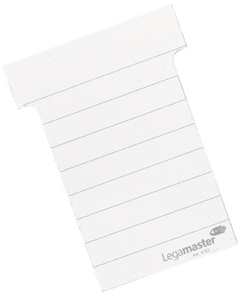 Legamaster planning module T-card 70mm white 100pcs - 001