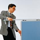 Legamaster PREMIUM mobiel inklapbaar workshopbord blauw-grijs  - 003