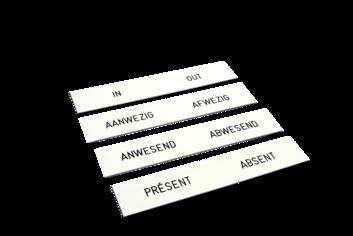Legamaster placa de identificación grabada 2x12cm - 002