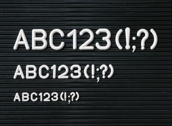 Legamaster set de caracteres suplementarios 20mm 280pzs - 001