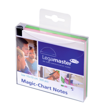 Legamaster Magic-Chart notes 10x10cm assorti 300st - 001