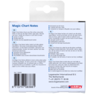 Legamaster Magic-Chart notes 10x10cm geel 100st  - 005