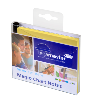 Legamaster Magic-Chart notes 10x10cm yellow 100pcs - 001