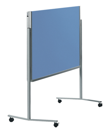 Legamaster PREMIUM mobile foldable workshop board blue-grey - 001