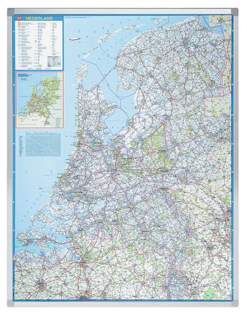 Legamaster PROFESSIONAL map Netherlands 130x101cm - 001