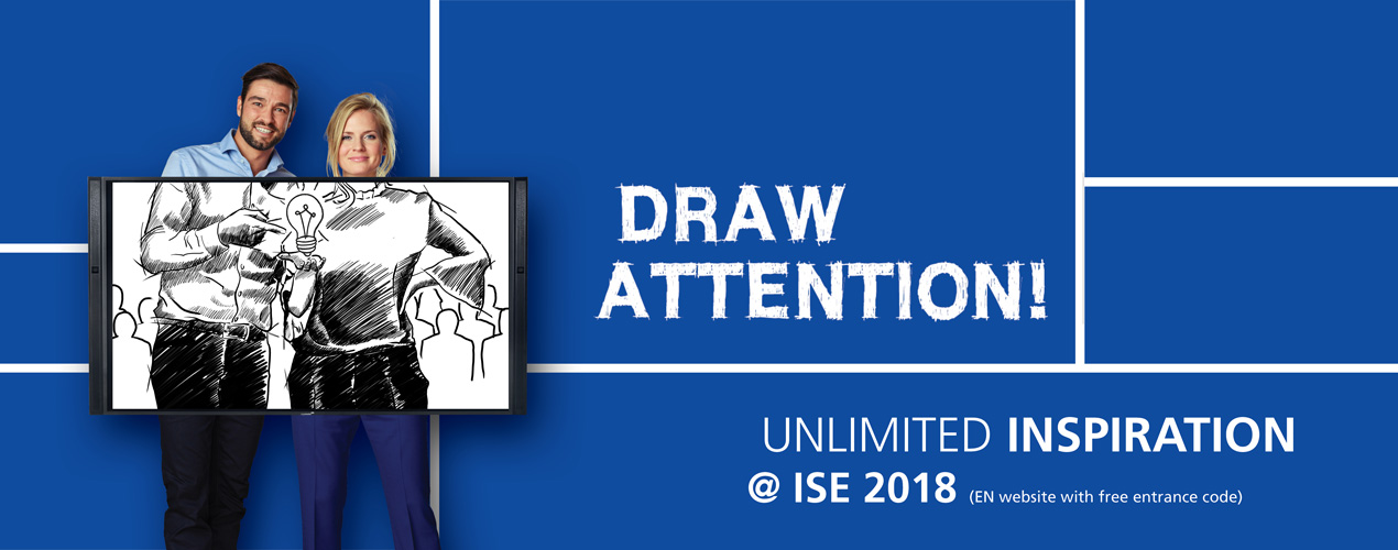 Unlimited inspiration @ our ISE 2018 stand
