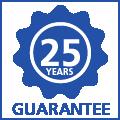 25 jaar garantie op uitwisbaarheid