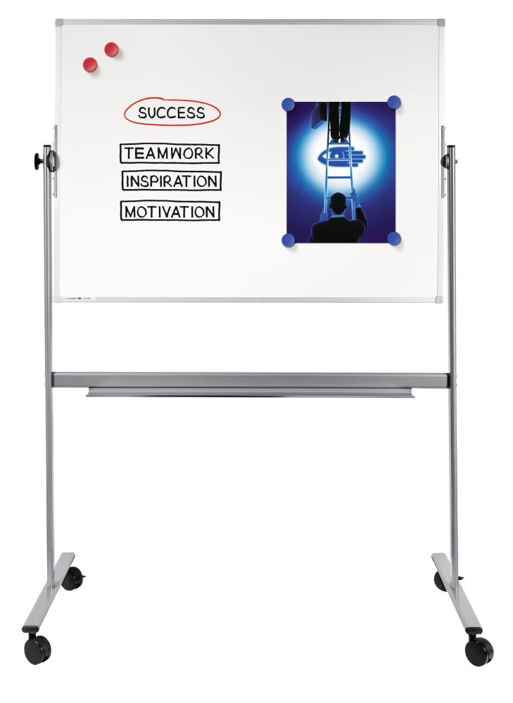 ECONOMY PLUS revolving whiteboard 90x120cm
