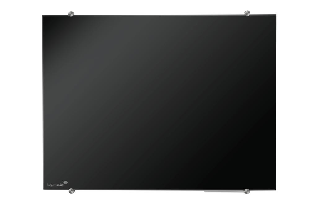 Glasbord zwart 100x150 cm