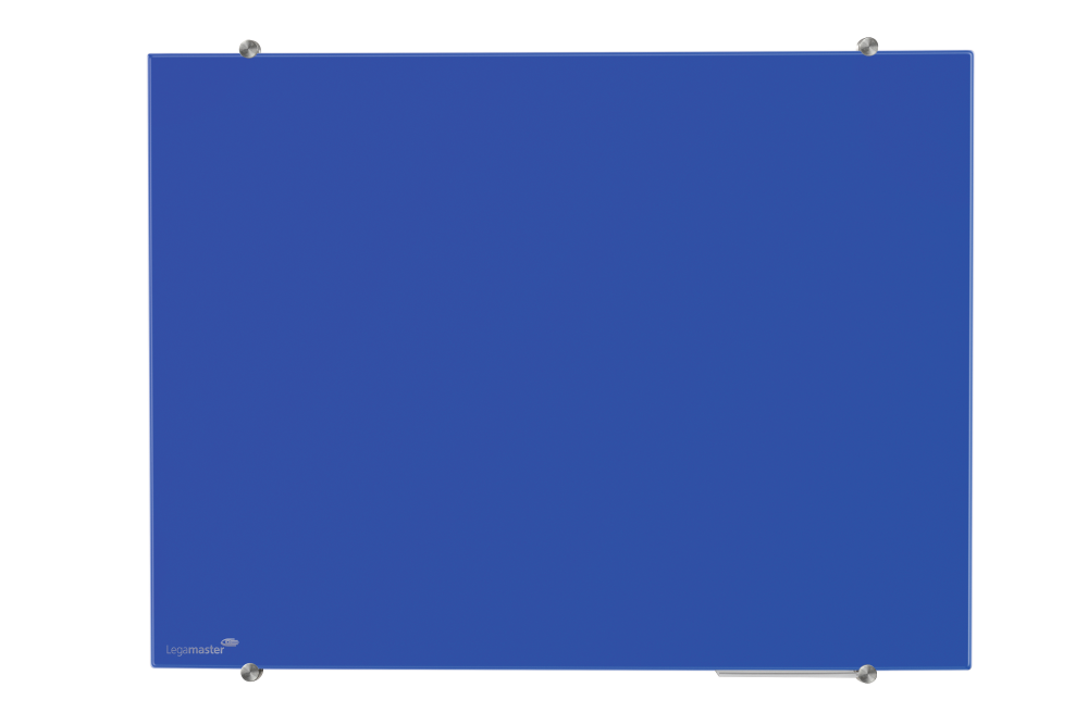 Glasbord blauw 90x120 cm