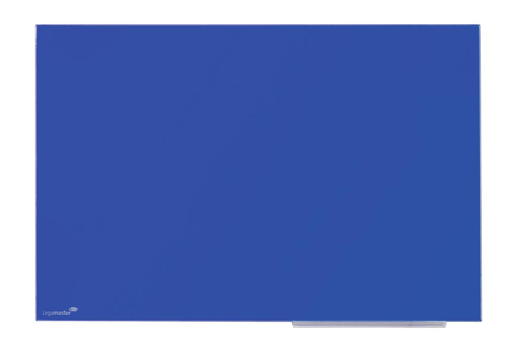 Glasbord blauw 40x60 cm